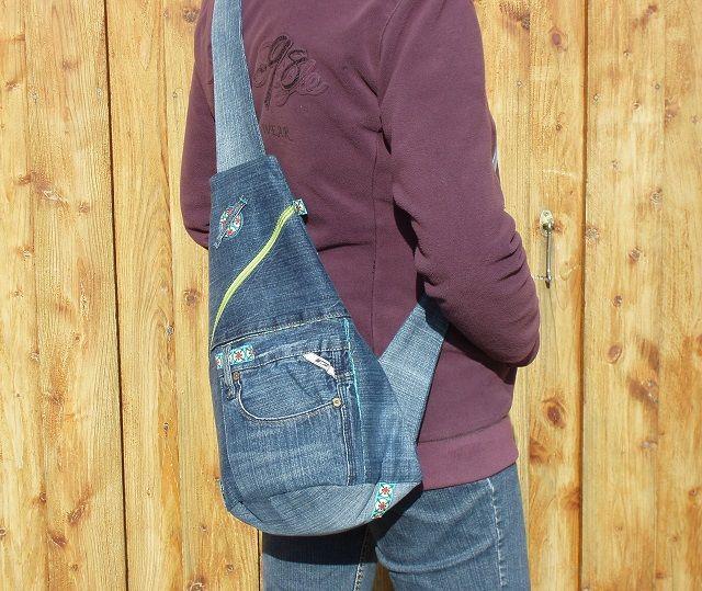 Crossbag aus alter Jeans