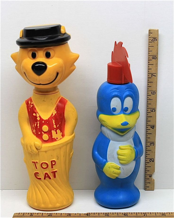 Vintage 1960 Top Cat Colgate Palmolive + Woody Woodpecker Walter Lantz Soaky Toy  | eBay