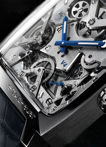 TAG HEUER Monaco V4 SKELETON AUTOMATIC-1 - mens cuff watches, quality mens watches, mens watches on sale