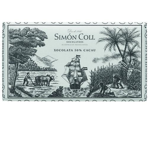 Simon Coll 200g. Ciocolata neagra 50% cacao FARA GLUTEN