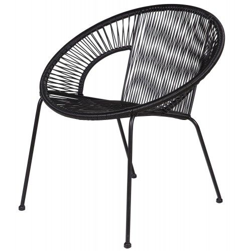 Woood - Cocktail Fauteuil - Zwart