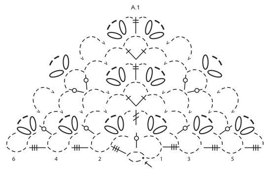 """Seaside Romance - Crochet DROPS shawl with fan pattern in stripes in """"Cotton Viscose"""" - Free pattern by DROPS Design"""