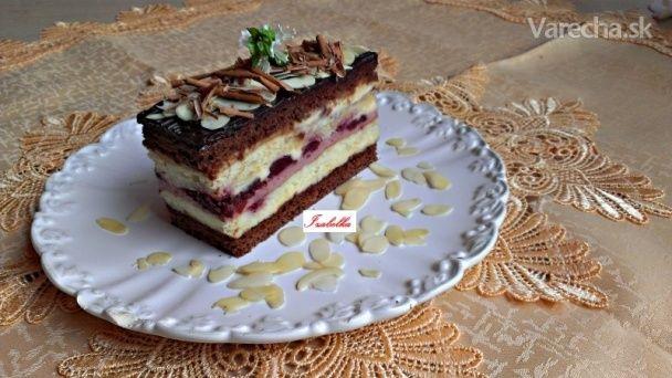 Medovo-piškótové višňové rezy (fotorecept) - Recept