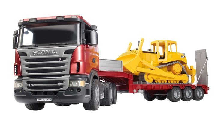 Bruder 3555 Scania R-Series Low Loader Truck: Amazon.co.uk: Toys & Games