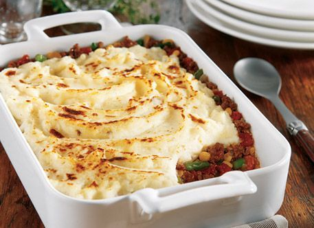 Hearty and delicious, this shepherd's pie preps in just 15 minutes by using Simply Potatoes® Mashed Potatoes.