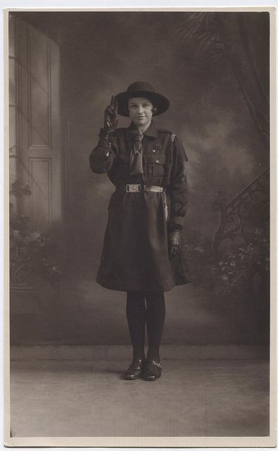 Mid/Late 1920s Saluting Girl Guide