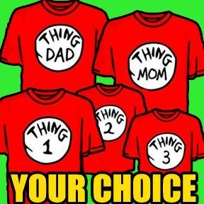 9532fe4e Details about Dr Seuss T-shirts Thing 1 2 3 5 MOM DAD family reunion  vacation Universal Disney in 2019 | My style | Family vacation shirts, ...