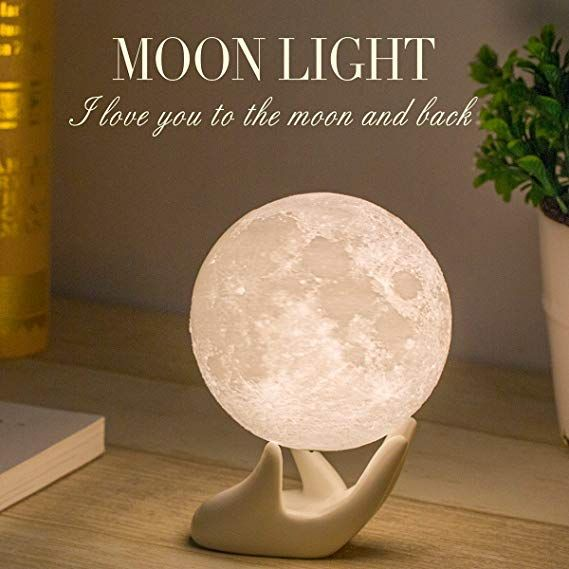 Mydethun Moon Lamp Moon Light Night Light For Kids Gift For Women Usb Charging And Touch Control Brightness 3d Moon Light Lamp Funny Birthday Gifts Night Light