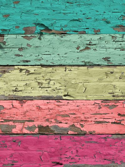 Temple of Love Art Print stripes with aqua teal turquoise