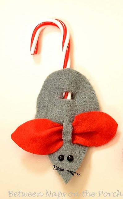 How to Make Christmas Mice Ornaments or Present Toppers