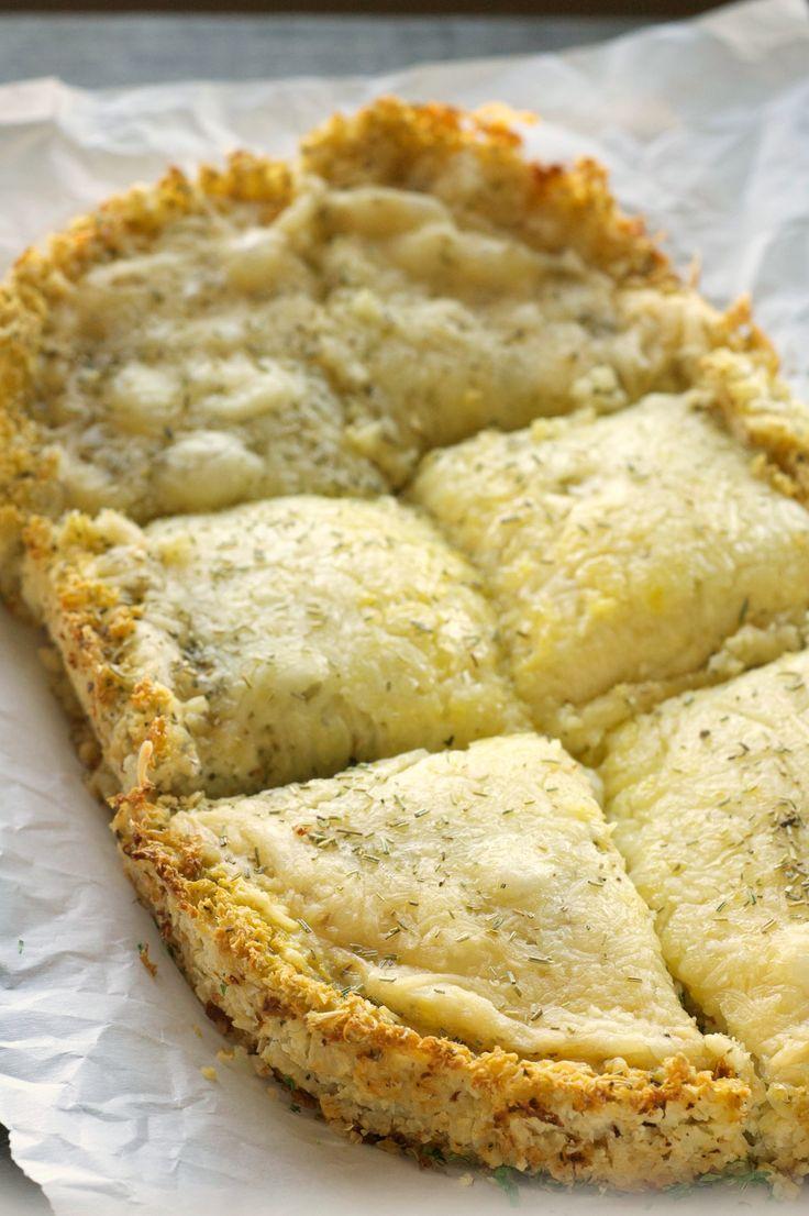 Crockpot Deep Dish Cheese Pizza with Cauliflower Crust