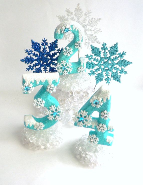 Birthday Cake Topper Number Frozen by twistedlollyboutique on Etsy, $10.00                                                                                                                                                                                 Mehr
