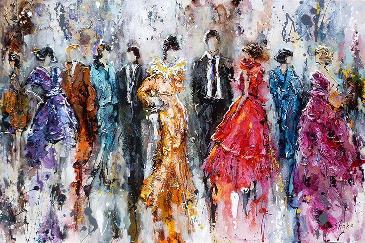 By Invite Only par Skoko, artiste présentement exposée aux Galeries Beauchamp. www.galeriebeauchamp.com