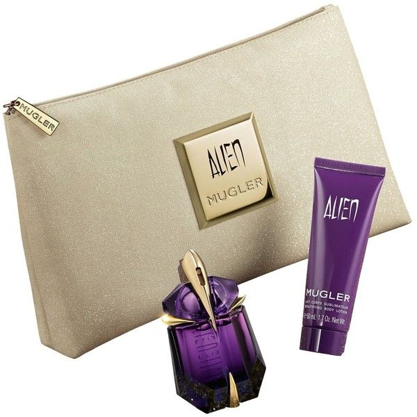 Mugler Alien Eau de Parfum Gift Set (265 BRL) ❤ liked on Polyvore featuring beauty products, gift sets & kits, no color, thierry mugler and eau de perfume