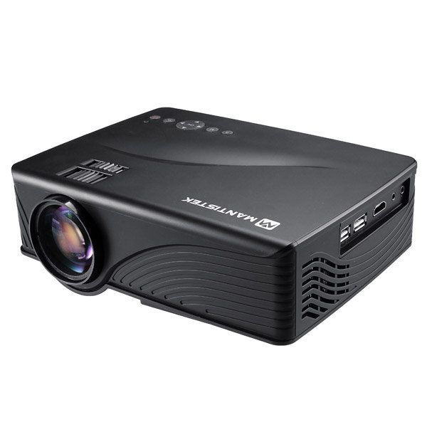 MantisTek MP1 1200 Lumens Mini LED Multimedia Home Theater Projector Android 4.4 Wireless Projector Sale - Banggood.com