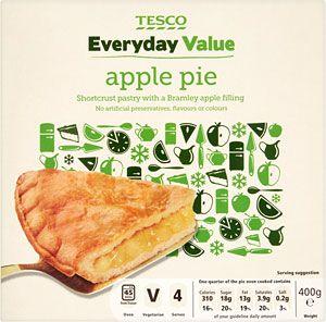 Buy Tesco Everyday Value Apple Pie (400g) online in Tesco at mySupermarket