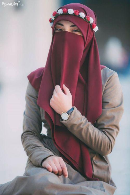Maroon Niqab