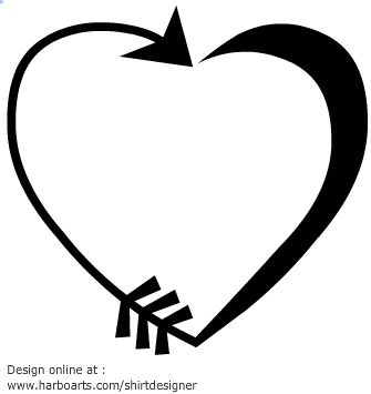 vector heart made of an arrow download this vector arrow. Black Bedroom Furniture Sets. Home Design Ideas