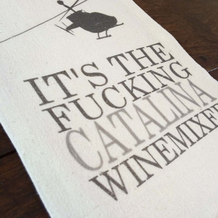 """Catalina Winemixer"" tea towel, printed onto a lint-free, natural, unbleached 100% cotton flour sack towel. Handmade in Georgia, United States"