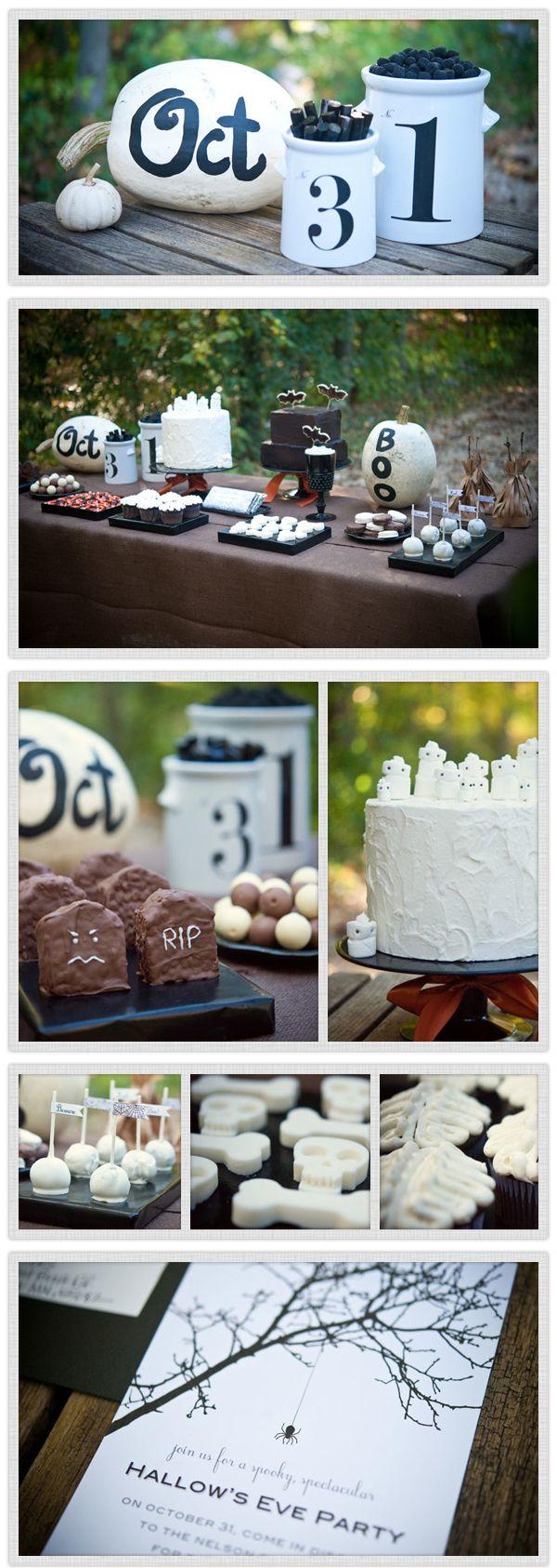 : Dessert Tables, Halloween Desserts, Halloween Decor, Diy Halloween, Halloween Parties Ideas, Halloween Tablescapes, Halloween Ideas, Desserts Tables, Party Ideas