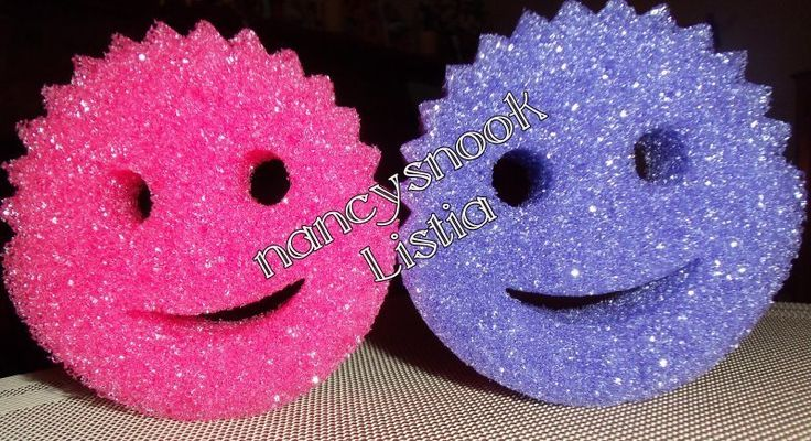 *GIN BONUS* CUTE~ 2 Scrub Daddy Sponges - 1 Purple and 1 Pink