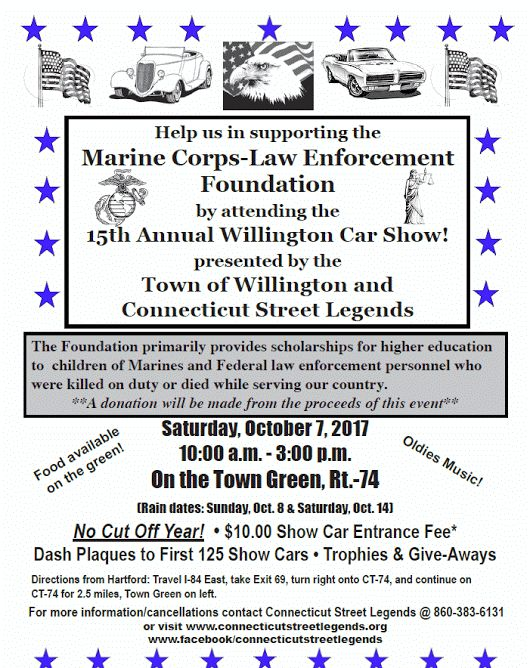 The Middletown Insider: Willington Car Show Supports Marine Corps-Law Enfo...