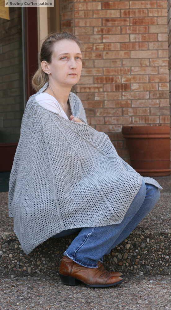 Batwing shawl - free crochet pattern