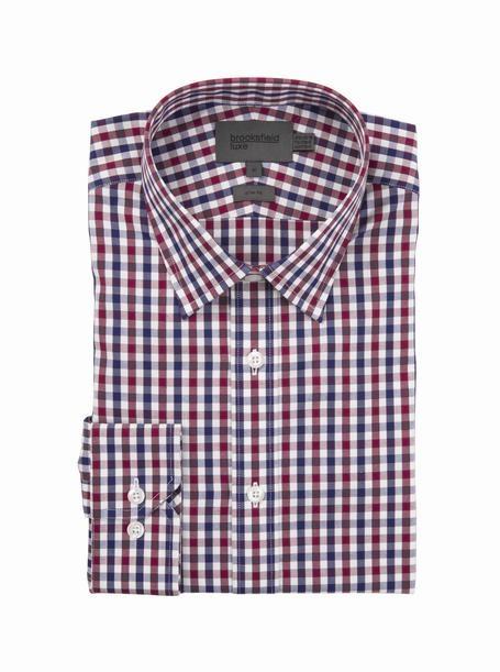 brooksfield jordan oxford shirt - bfc931 red