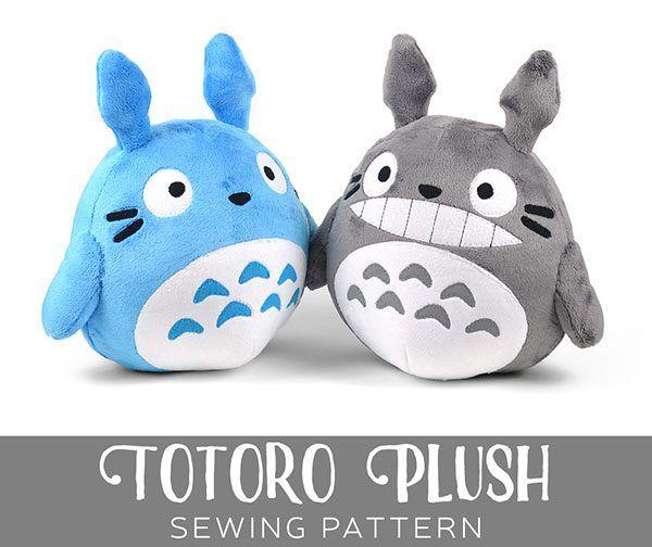 Free Totoro plush patterns - Sew Desu Ne?