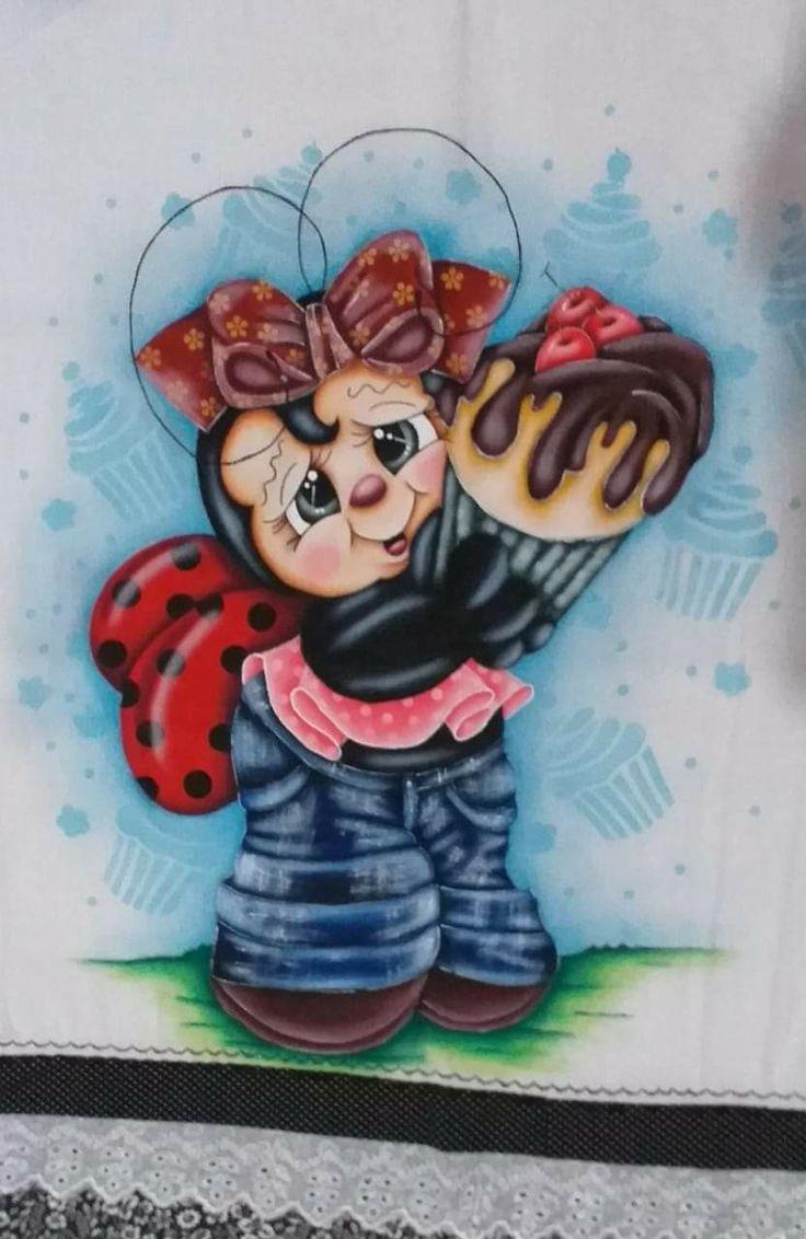 Pin de Lusia Duarte em Joaninhas | Riscos para pintura ...