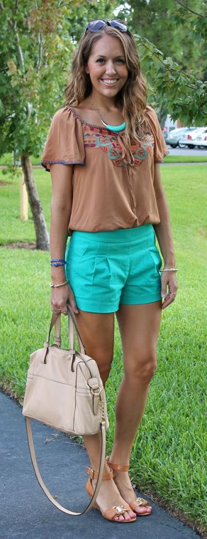 J: J's Everyday Fashion Blog // Those colors! This look! J is cute as button wearing her embroidered tunic from Jane.com. Love how she paired it with pops of color! #veryjane