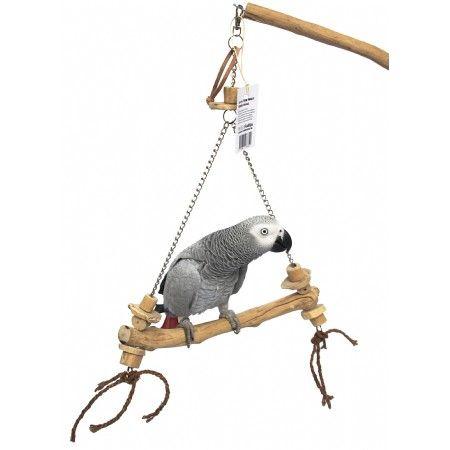 Avontuurlijk speelgoed van ZooFaria voor kromsnavels. Gemaakt van natuurlijk materiaal waaronder het oersterke Javawood.  Goed voor urenlang schommel- en speelplezier !  Afmeting : 30 x 2,5 cm. totaal : 50 cm. hoog.