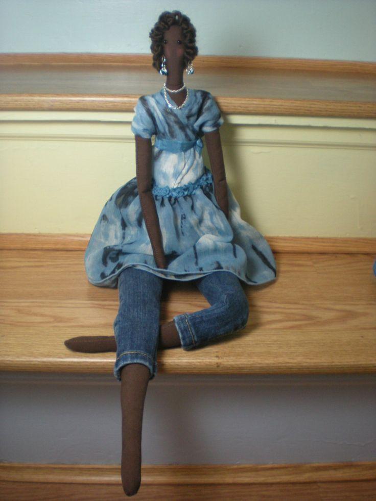 Muñeca de tela muñeca Tilda  muñeca de trapo por DianesDollCloset, $33,50