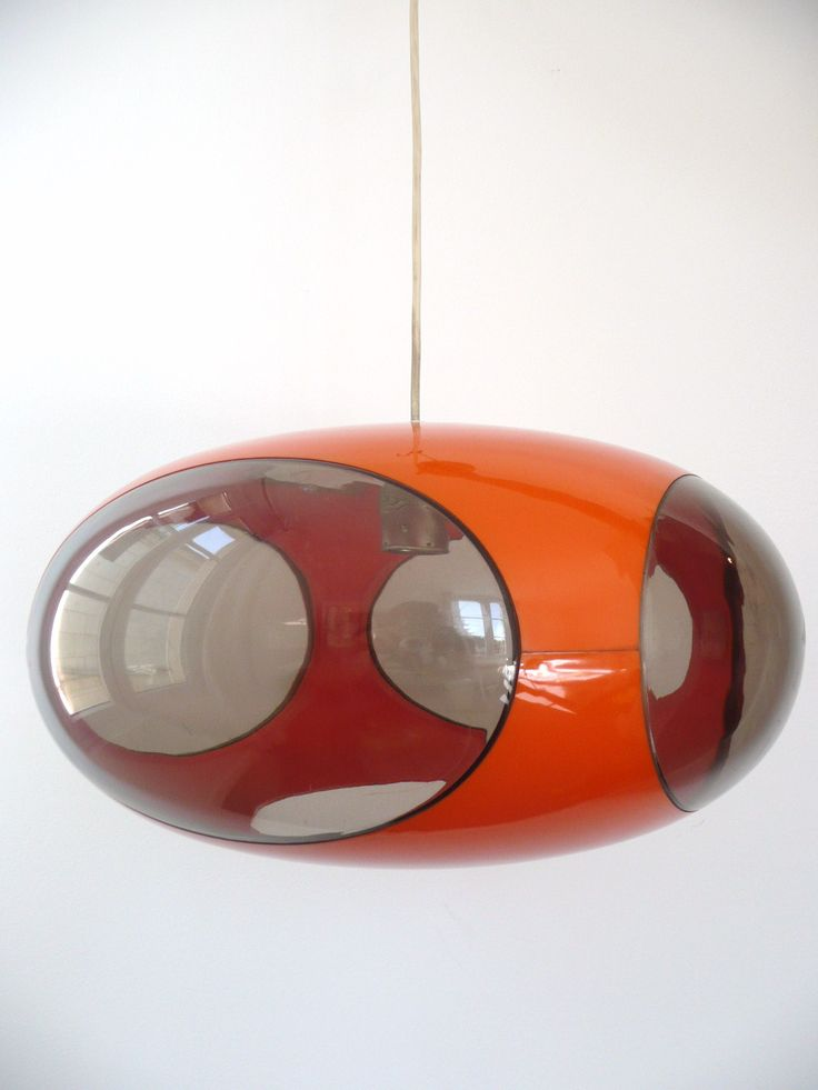 Luigi Colani; Plastic Ceiling Light, 1970s.