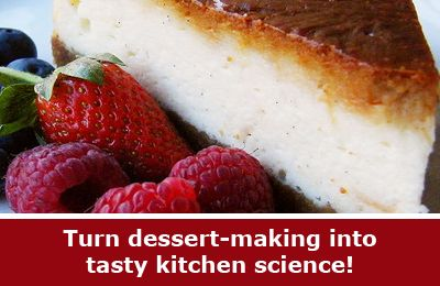 Kitchen #science is a great way to get the whole family involved in a fun, tasty, science experiment. A cheesecake bake-off explores how subtle variations in cooking methods can create very different results!  [Source: Science Buddies, http://www.sciencebuddies.org/blog/2013/11/this-experiment-is-totally-sweet.php?from=Pinterest; Image: Wikipedia, zingyyellow] #STEM #familyscience #scienceproject #kitchenscience
