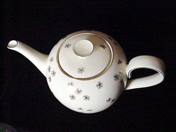 Art déco Bavière Allemagne porcelaine Tea Pot les par DixieAntiques