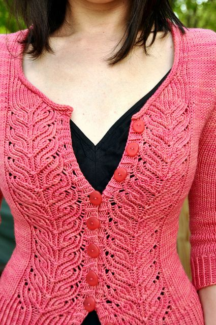 Project on ravelry, no pattern. This person is awesome, making a cardi a month to go with dresses!
