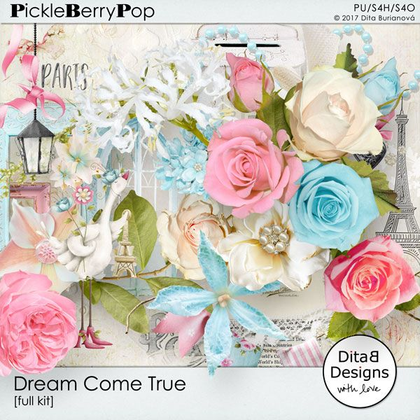 DitaB Designs:    individual packs  DREAM COME TRUE 37 elements  ...