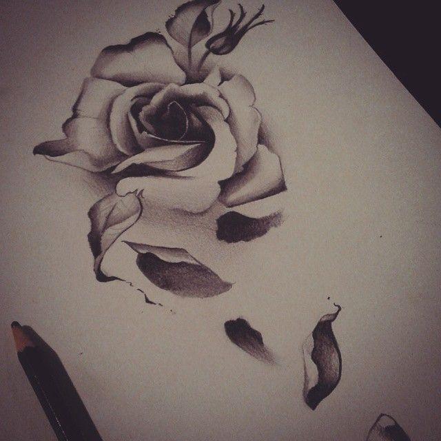 Rose fallen petal tattoo