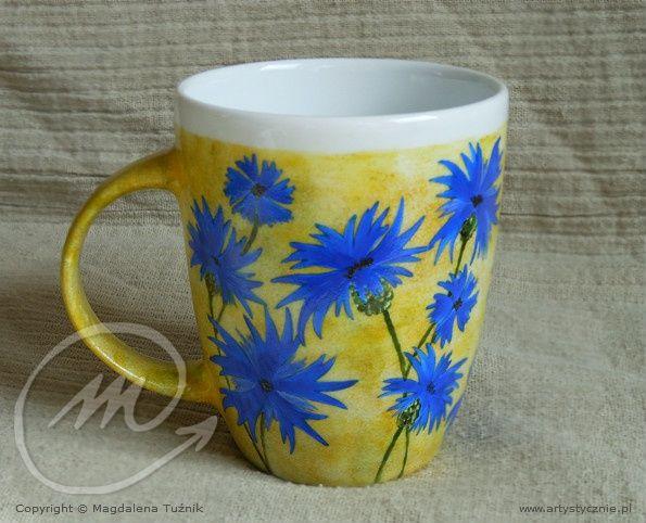 Kubek w chabry -  mug in cornflowers
