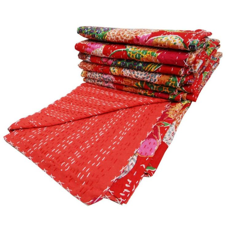 Hand Stitched Kantha Quilt Cotton Red Bedspread Twin Size Gudri India Photo, Detailed about Hand Stitched Kantha Quilt Cotton Red Bedspread Twin Size Gudri India Picture on Alibaba.com.