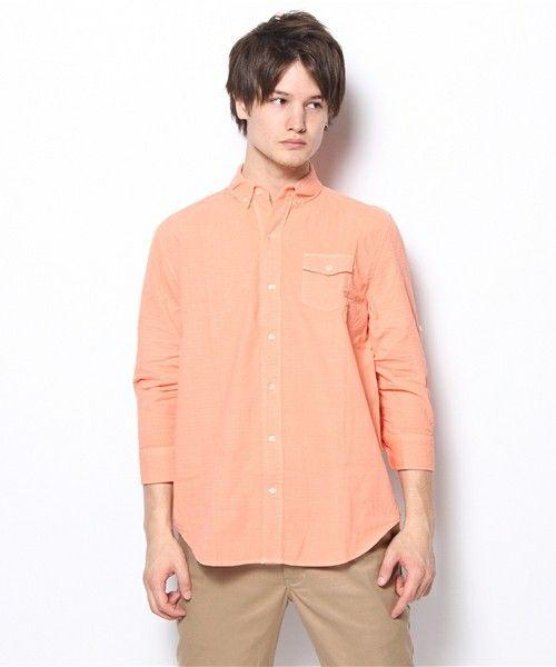CIAOPANIC TYPY / MENS(チャオパニックティピー / メンズ)のリネン混サッカーシャツ(シャツ・ブラウス) ピンク