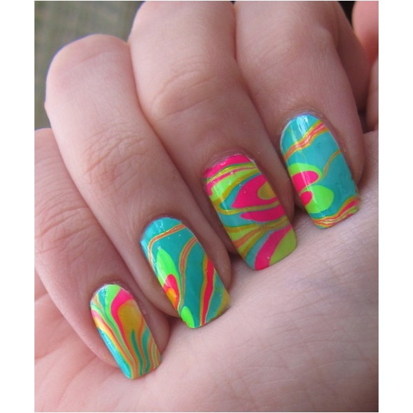 63 best neon water marble nails images on pinterest water marble water marble nails are so cool to look at and they seem to be easy to solutioingenieria Image collections
