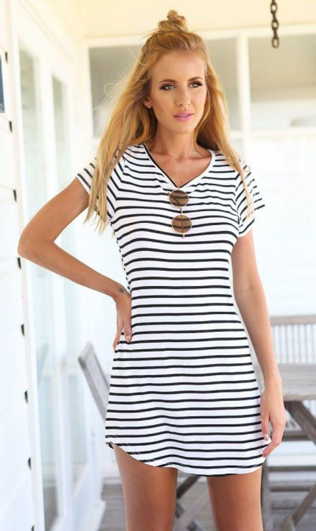 Stripe Short-Sleeve Dress Shirt