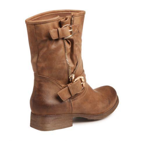 chaussure bottine rock style femme pas cher marron - Chaussure Mariage Femme Gemo