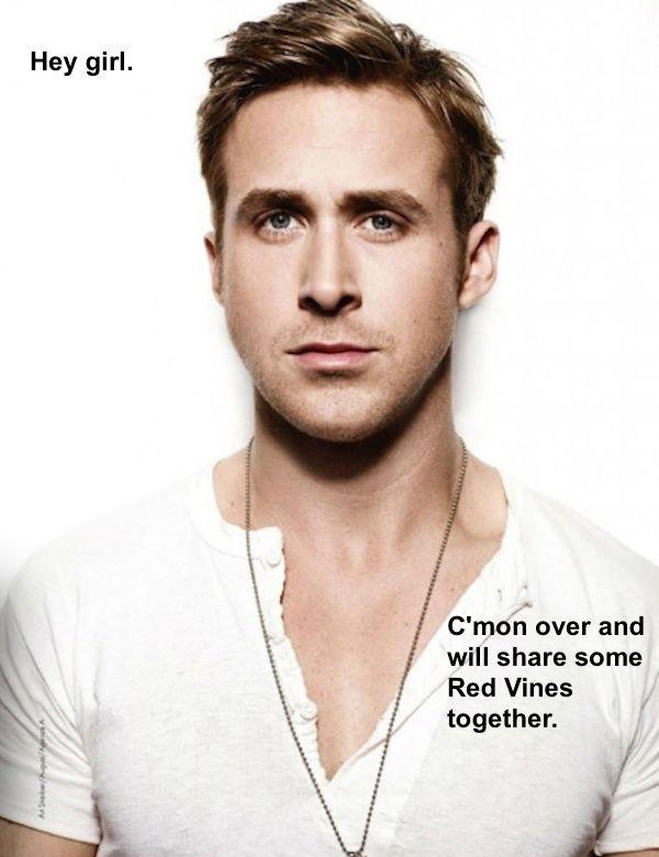 funny ryan gosling   Ryan Gosling red vines