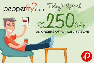 Pepperfry #BuyHappySale is offering Rs.250 off on orders of 1250 & above on SiteWide. Pepperfry Coupon Code – DBH250  http://www.paisebachaoindia.com/sitewide-discount-rs-250-off-on-orders-of-1250-buy-happy-sale-pepperfry/