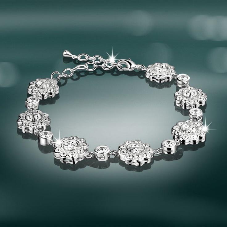 Newbridge Silverware Jewellery - M O'Hara Clear Stone Bracelet Was £72.50 Now £36.25