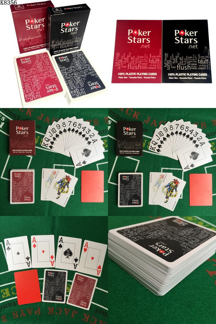 [Visit to Buy] New Baccarat Texas Hold'em Plastic Playing Cards Waterproof Frosting Poker Card Pokerstar Board Game 2.48*3.46 inch K8356 #Advertisement