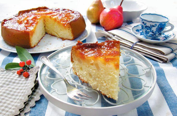 Torta morbida ricotta e pere